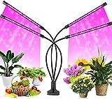 FiBiSonic LED Pflanzenlampe, 40 W, 80 LEDs, Vollspektrum 360 ° einstellbare LED Wachstumslampe,...
