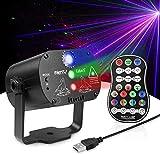 Disco RGB LED Bühnenbeleuchtung DJ Party Beam Licht Sound aktiviert Strobe Licht Projektor mit...