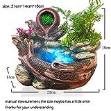 HONIC 110V / 220V-Wasser-Brunnen Naturharz Bonsai Blumen-Pflanzer Desktop-Dekor Rockery Trübungen...