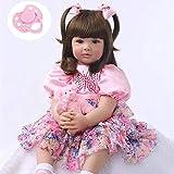 iCradle Reborn Dolls 24'/61cm Weiches Vinyl Silikon Leben Wie Reborn Baby Puppe Langes Haar...