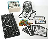KSS Groes Bingo Spiel + 500 Bingokarten Bingo Spiel Set Metall Bingotrommel Bingo-Mhle Lotto-Trommel...