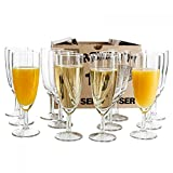 Van Well 12er Set Sektglas Royalty, 0.1L geeicht,  50 mm, H 160 mm, Sektflte, Kelchglas, Champagner-...