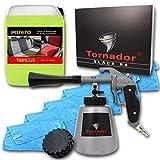 ABACUS 7424 TORNADOR Black Z-020RS (Modell 2019) -Textil- & Polsterreinigungs-Set mit 5 Liter...