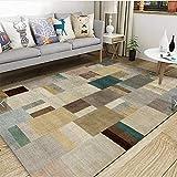 LAMEDER Home Wohnzimmer Teppich,Abstraktes Muster modernes Wohnzimmer dicken Teppich, leicht zu...