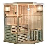 Home Deluxe - Traditionelle Sauna - Skyline XL - Holz: Hemlocktanne - Maße: 150 x 150 x 210 cm -...