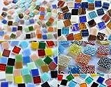 500 Stck Glas Mosaiksteine Bunt aus 5 versch. Artikeln a 15x15mm ca. 760g. als Weihnachtsgeschenk