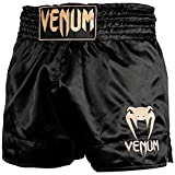 Venum Classic Thaibox Shorts, Schwarz/Gold, L