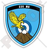 Griechenland 336 Bomber Squadron Olympus-Emblem Hellenic Air Force Greek 90 mm (3,5 Zoll) Vinyl...