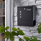 BONADE Wandmontage Briefkasten mit Schutzklappe A4 Einwurf-Format Postkasten Mailbox für Briefe,...