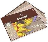 Canson 400030143 Mi-Teintes farbiges Zeichenpapier, 24 x 32 cm, 5 Farben sortiert, grau-Tne