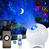 Sternenhimmel LED Projektor Lampe, ALED LIGHT LED Fußball Lampe mit Fernbedienung 4 in 1...