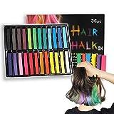 36 Farben Haarfärbestifte für Männer, Frauen und Kinder Parade Party Einweg-Haarkreidestifte Bunt...