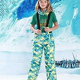 HETUI Kinder Kinder Winter Warm Outdoor wasserdichte Skihose Lätzchen Schneehose (Camouflage Blue,...