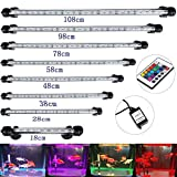 DOCEAN 38 cm Aquarium LED Beleuchtung 16 Farb RGB Steuerung Leuchte Lampe Lighting EU Stecker...