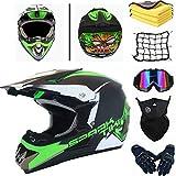 AGVEA Motocross-Helm mit Schutzbrille, crosshelm kinder,Unisex, fullface helm,enduro helm,crosshelm...
