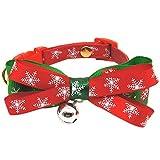 fervortop Weihnachten Hunde Halsband Haustier Fliege Hundehalsband Bowknot Katzen...