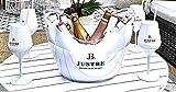 JUST BE Geschenke-Set Wein-Cocktail Party-Box | Mit Sekt-Kühler und Sekt-Gläser (L)