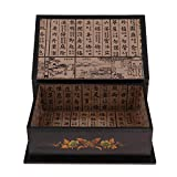 JieMiTe Chinesische handgemachte Klassische Schmuckschatulle Aufbewahrungsbox große Kapazität...