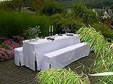 DEGAMO Hussen-Set für Festzeltgarnitur mit 70cm-Tisch, gepolsterte Ausführung, Weiss