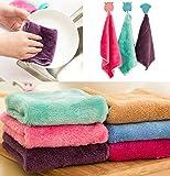 Frottee Handtuch Anti-Fett Tuch Bambusfaser Waschhandtuch Magic Küche Reinigung Wischlappen...
