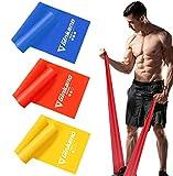 Haquno Fitnessband 3er-Set Theraband Gymnastikband Lang Fitnessbänder Widerstandsbänder in 3...