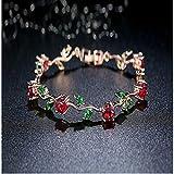 LULUKO Eingelegt mit AAA Zircon Crystal Color Damen modisches neues Armband