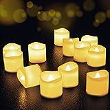 LED Kerzen, FOCHEA LED Kerzen Flammenlose LED Teelichter 12er Satz LED Tee Lichter...