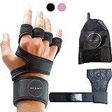NoLimit®️ Fitness Handschuhe für Damen und Herren (Rosa/Schwarz) mit Handgelenkbandage |...