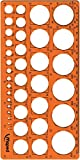 Maped - Kreis-Schablone TECHNIC, fr Kreise Durchmesser 1-35 mm - orange