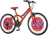 breluxx 24 Zoll Kinderfahrrad Mountainbike Hardtail Explorer Daisy Sport orange, 18 Gang - Made in...