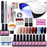 Saint-Acior 36W UV-LED Nagellampe Starterset 10x Gel Lacken fr UV Nageldesign Gelngel Nagelset uv...