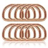Ganzoo D - Ring aus Stahl, 10er Set, Materialstärke 4mm, DIY Hunde-Halsband, nichtrostend, Ideal...