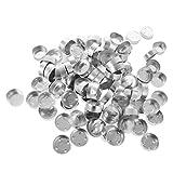 100pcs Aluminium Leere Teelicht Tassen Fall Kerze Aluminium Ware Für Handwerk - Farbe 3,...