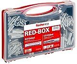 fischer 040991 Sortimentsbox RED-Box mit Universaldübel UX und Spreizdübel SX-Für zahlreiche...