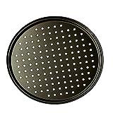 Lopbinte 25,4 cm persönliche perforierte Pizzablech aus schwarzem Karbonstahl mit...