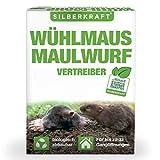 Silberkraft Wühlmaus- und Maulwurfschreck, Granulat zur Abwehr & Bekämpfung, biologisch abbaubar,...