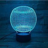 XKALXO 3D Nachtlicht Led Usb Oder Batteriebetriebenes Nachtlicht Für Schlafzimmer Dekor Lampe Sport...