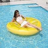 YAUUYA Pool Liegen Hngematte Gelbe Zitrone Wasser Float Schlauchboote Float Recliner Air Leichter...
