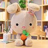 CushionsHome Nettes Kaninchen Plüschtier Soft Cartoon Tier Kissen Puppe Kuschelige Kuscheltier Hase...