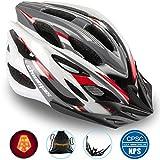 Shinmax Fahrradhelm mit Sicherheitslicht, Verstellbare Sport Bike Fahrradhelme für Motorrad für...