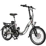 AsVIVA E-Bike 20', Faltrad (15,6Ah Samsung Akku), Klapprad, 7 Gang Shimano Kettenschaltung, Bafang...
