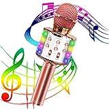 Karaoke Mikrofon,Tragbares Drahtloses Mikrofon,Bluetooth Karaoke Mikrofon mit Aufnahme 4-in-1...
