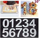 Maygone Große Zahlenkuchenform 0-9 Zahlen Set Backen Kuchen Formen Werkzeug für geschichtete...