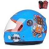 ZJRA Motocross-Helm Für Kinder, Motorradhelm Für Kinder, Jungen Und Mädchen, Cartoon-Stil...
