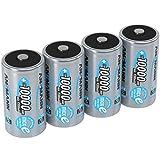 ANSMANN Akku D 10000 mAh NiMH 1,2 V (4 Stück) - Mono D Batterien wiederaufladbar, hohe Kapazität &...
