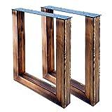 Bentatec 2 Stück - Tischgestell U geflammt - 8080 Tischbein Tischkufen Esstisch