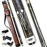 Tai ba cues Billardqueue mit Tasche, Leinen-Wickel-Queue, 13 mm mehrschichtige Lederspitze, 147,3...