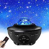 LED Sternenhimmel Projektor, Starry Projector Light, Galaxy Light mit Wasserwellen und...