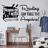yaonuli Lesen können Sie überall Buch Wandtattoo Bibliothek Lernen inspirierende Zitat Bildung...