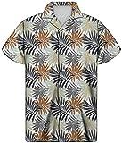 HUGS IDEA Hawaiianisches Aloha-Shirt, kurzärmlig, tropisches Blumenmuster, Sommer-Top Gr. XXL,...